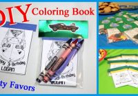 DIY- Coloring Book Party Favors – YouTube – diy coloring book