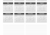 Download a free 17 Yearly Calendar with Notes from Vertex17.com ..