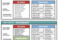 DRAFT 19-19 Calendars – 2019 School Year Calendar Victoria