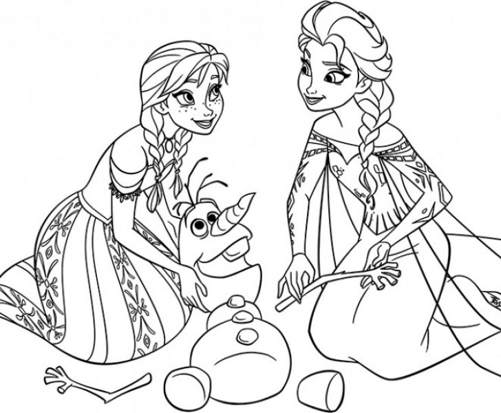 elsa and anna coloring book pages | Chrismast and New Year
