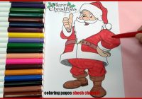 Emoji Santa Coloring Pages With Merry Christmas From Shosh