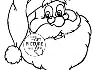 Face Of Santa Claus Coloring Pages With Printable Beautiful Template Halloween