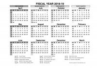 Fiscal Year 2019 Calendar With 2018 In Word PDF Excel Format Office