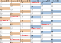 Fiscal Year 2019 Calendar With Calendars 2020 As Free Printable PDF Templates