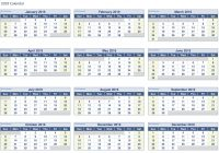 Fiscal Year 2019 Calendar With Printable Paper Sheets
