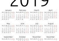 Fiscal Year 2019 Calendar With Printable Yearly