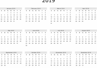 Free 18 Yearly One Page Calendar Printable | December 18 ..