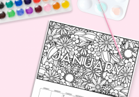 Free Calendar Coloring Pages For 17   Free Printables   Pinterest ..