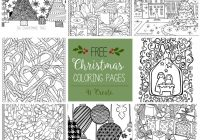 Free Christmas Adult Coloring Pages – U Create – Detailed Christmas Coloring Pages Free Printable