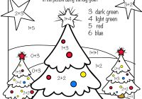 Free Christmas Coloring Math Worksheets With Printable Pre K 1st Grade 2nd