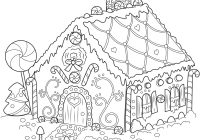 Free Christmas Coloring Pages Gingerbread Man With House Dog Patterns Pinterest