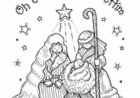 Free Christmas Coloring Pages Religious With Printable Nativity For Kids Best