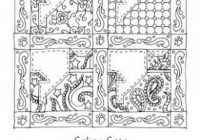 Free coloring page to print. Excerpt from the book Grandma's Quilts ..