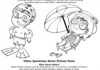 Free Coloring Pages for Body Safety to introduce ways to help ..