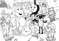 Free Disney Christmas Colouring Pages With FREE Coloring For Kids Printable Thomas Snow