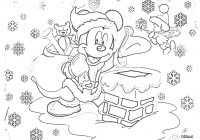 Free Disney Christmas Colouring Pages With Mickey Mouse Preschool Coloring