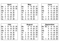 Free Printable Calendars and Planners 17, 17 and 17 – 2019 Year Calendar Free Printable