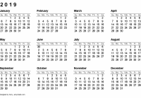Free Printable Calendars and Planners 18, 18 and 18 – Next Year Calendar 2019 Malaysia