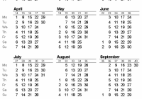 Free Printable Calendars and Planners 19, 19 and 19 – 2019 Calendar Year To A Page