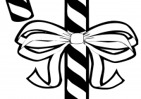 Free Printable Christmas Coloring Pages Candy Canes With Cane
