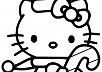 Free Printable Christmas Coloring Pages Candy Canes With Hello Kitty Cane Page