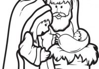 FREE Printable Mary, Joseph, & Baby Jesus Coloring Page for Kids ..