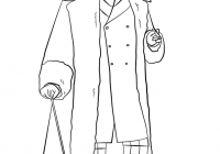 Free Victorian Christmas Coloring Pages With Men S Fashion Page Printable