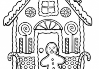 Gingerbread House Coloring   First grade winter party ideas   House ..