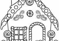 Gingerbread House Coloring Pages   Patterns/Printables/Templates ..