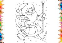 Happy Santa Claus Christmas Coloring Pages With L Merry And New Year