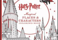 Harry Potter Magical Places  – harry potter coloring book
