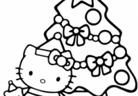 Hello Kitty Christmas coloring page | Free Printable Coloring Pages – Free Christmas Coloring Pages