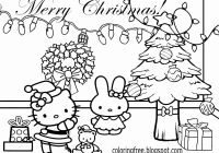Hello Kitty Christmas Coloring Pages Free Print With Printable