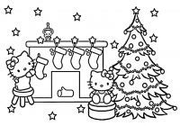 Hello Kitty Christmas Coloring Pages Free Print With Recycled Crafts For Kids Is Magical