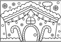 How to Draw a House Step by Step With Christmas Lights | Decorated ..