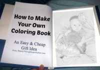 How to Make Your Own Coloring Book – Cheap Birthday Gift Idea for ..