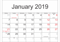 January 18 Calendar With Indian Holiday | Printable Templates ..