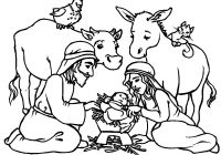 Jesus Christ Christmas Coloring Pages With Free Christian 26 Religious 7 Futurama Me