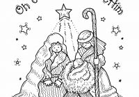 Jesus Christ Christmas Coloring Pages With Free Printable Nativity For Kids Projects To Try