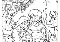 Jesus Christ Christmas Coloring Pages With Free Printable New Bible Story