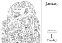 Johanna Basford 17 Coloring Day-to-Day Calendar – 2019 Calendar Coloring Pages