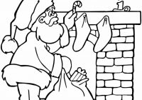 Large Santa Coloring Page With Christmas Pages