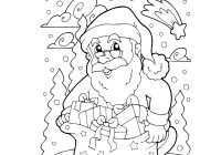 Large Santa Coloring Page With Free Printable Christmas Pages Jokes And