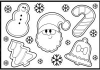 Large Santa Face Coloring Page With How To Draw CHRISTMAS COOKIES Step By For Kids S