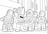 Lego Christmas Coloring Pages With Printable Page For Kids