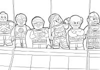 Lego Santa Coloring Pages With Avengers