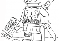 Lego Santa Coloring Pages With Dead Pool Printable