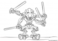 Lego Santa Coloring Pages With General Grievous Printable