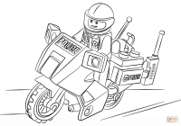 Lego Santa Coloring Pages With Moto Police Page Free Printable