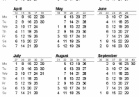 Listing Of Fiscal Year Calendar with Week Numbers 20 – Calendars ..